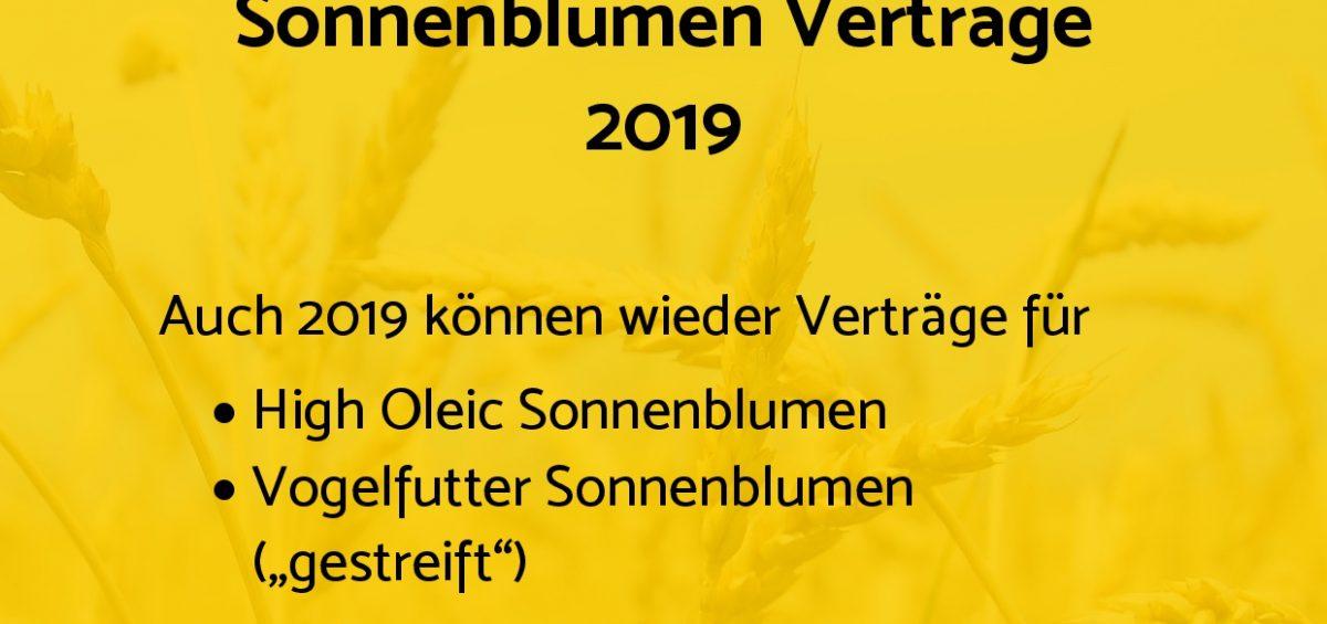 Verträge für Sonnenblume Anbau 2019