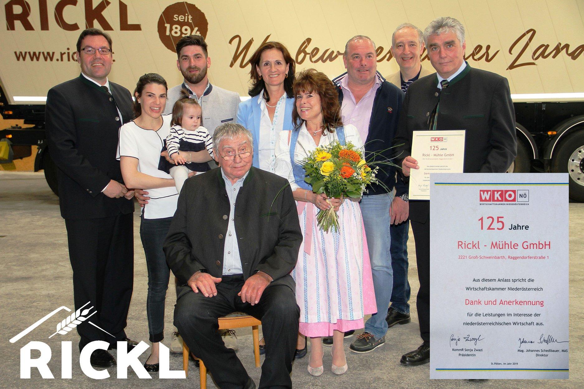 125 Jahre Rickl Mühle in Groß-Schweinbarth